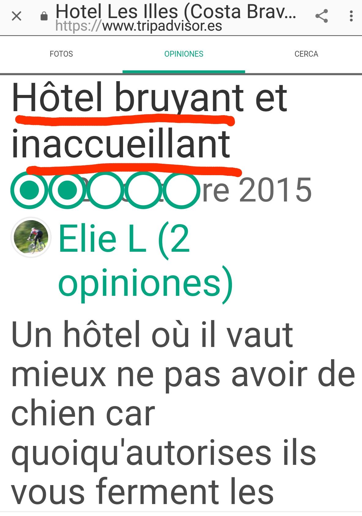 Hotel les illes estartit tripadvisor bruyant