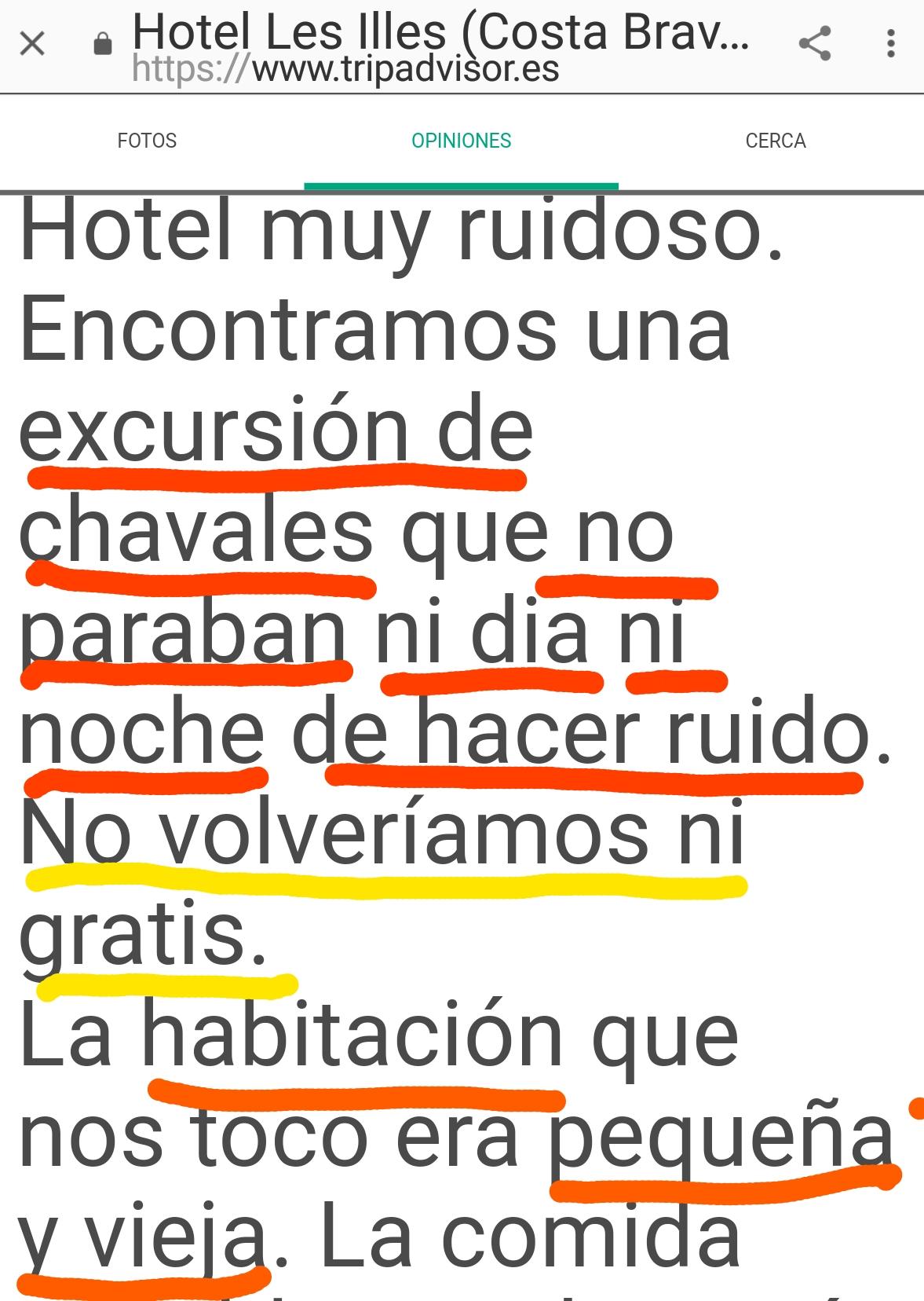 Hotel les illes infiwrno Estartit